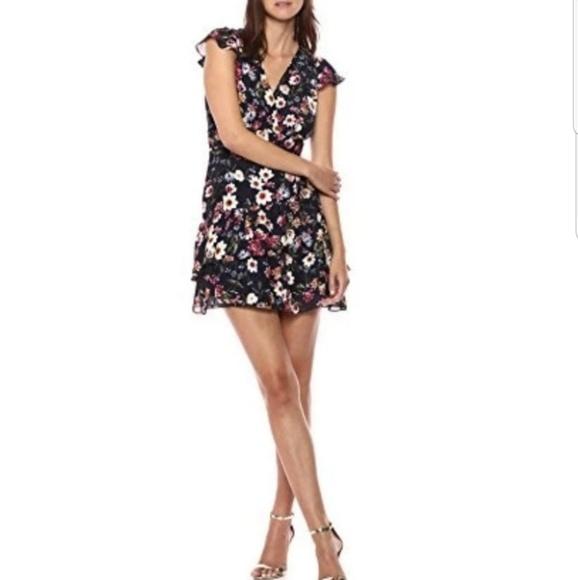 Parker Dresses & Skirts - Parker Cosmic Daisy Silk Dress, Flutter Sleeves